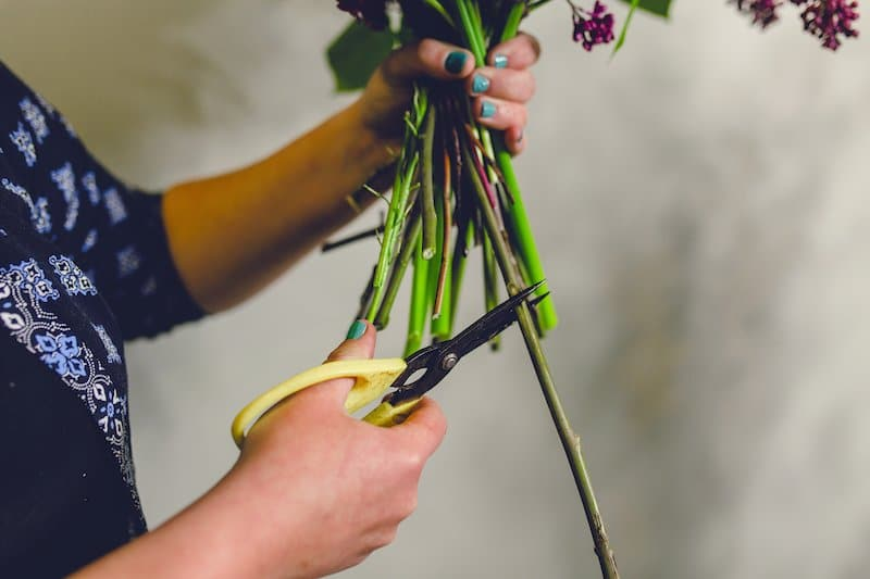 Green Parlour flower school wedding flowers