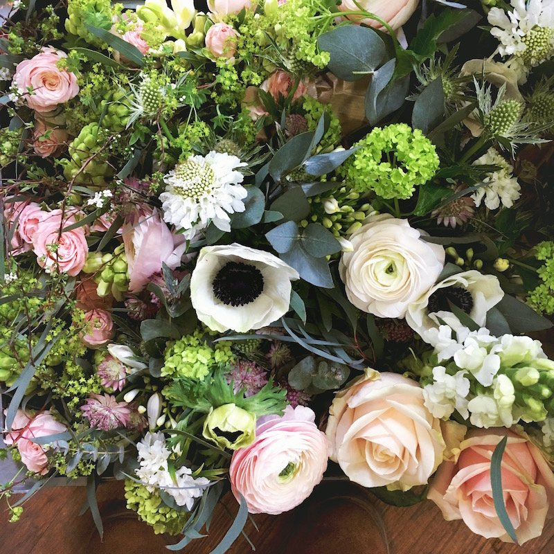 blush and white wedding flowers green parlour